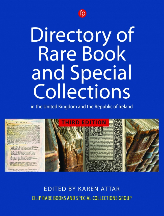 Jacket Image For: Directory of Rare Book and Special Collections in the UK and Republic of Ireland