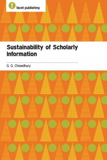 Jacket image for Sustainability of Scholarly Information