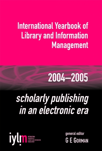 Jacket image for Scholarly Publishing in an Electronic Era