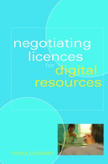 Jacket image for Negotiating Licences for Digital Resources